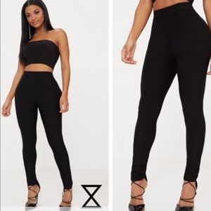 05b0f410c49765 PrettyLittleThing Pants | Nwt Dabria Black High Waisted Jersey ...